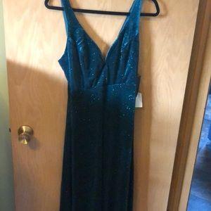 Lulu's Star Gaze Emerald Velvet Mermaid Dress